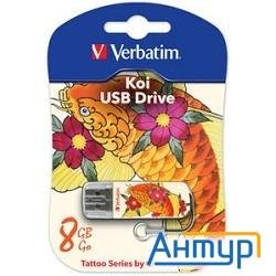 Verbatim Usb Drive 8gb Mini Tattoo Edition Fish 049882 {usb2.0}