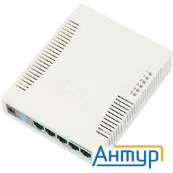 Mikrotik Rb260gs Routerboard 260gs 5-port Gigabit Smart Switch With Sfp Cage, Swos, Plastic Case, Ps