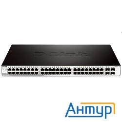 D-link Dgs-1210-52/b1a  Gigabit Smart Switch With 48 10/100/1000base-t Ports And 4 Gigabit Minigbic