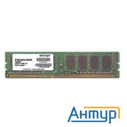 Patriot Ddr3 Dimm 4gb (pc3-12800) 1600mhz Psd34g1600/2(81)