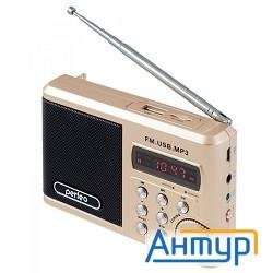 Perfeo мини-аудио Sound Ranger, УКВ+ Fm, Mp3 (usb/tf), Usb-audio, Bl-5c 1000mah, шамп.золот (sv922au