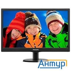 "Lcd Philips 19, 5"" 203v5lsb26(10/62) черный Tn Led, 1600x900, 90/50, 1000000:1, 5ms, 200cd/m  D-sub"