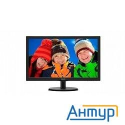 "Lcd Philips 21.5""  223v5lsb2/10(62) Black (led, Lcd, Wide, 1920x1080, 5 Ms, 90°/65°, 200 Cd/m, 10m:1"