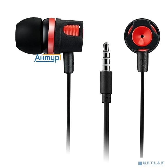 Canyon Cne-cep3r Stereo Earphones With Microphone, 1.2m, Red