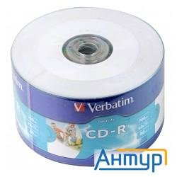 Verbatim  Диски Cd-r  80min, 700mb, 52x Shrink/50 Ink Print [43794]