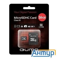 Micro Securedigital 16gb  Qumo (qm16gmicsdhc10u1) Cl10 Uhs-i