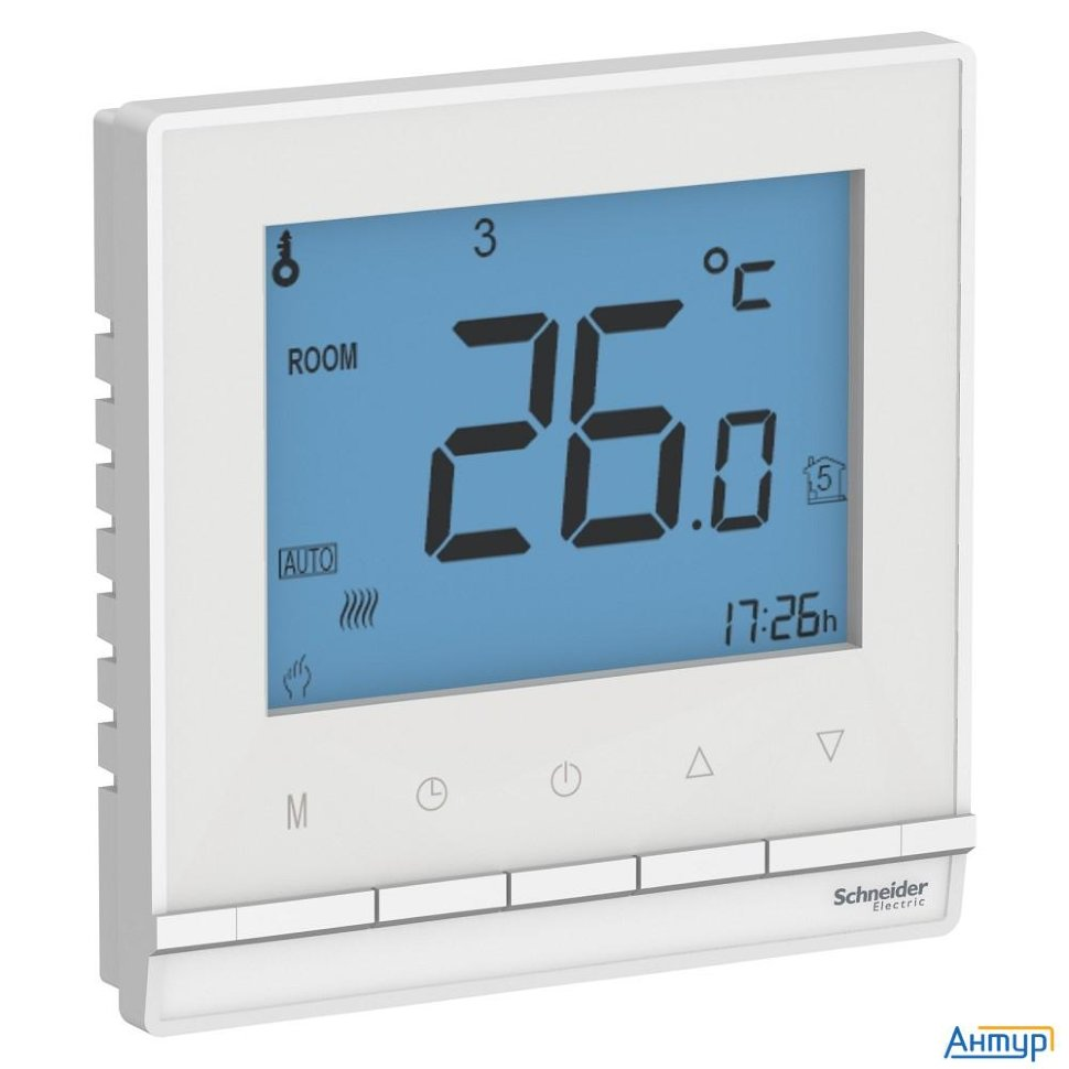 Schneider-electric Atn000138 Atlasdesign ТЕРМОСТАТ электрон.теплого пола с датч.,от + 5 до +35 °c, 1