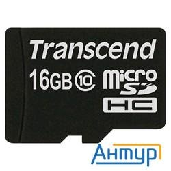 Micro Securedigital 16gb Transcend Class 10 (ts16gusdc10)