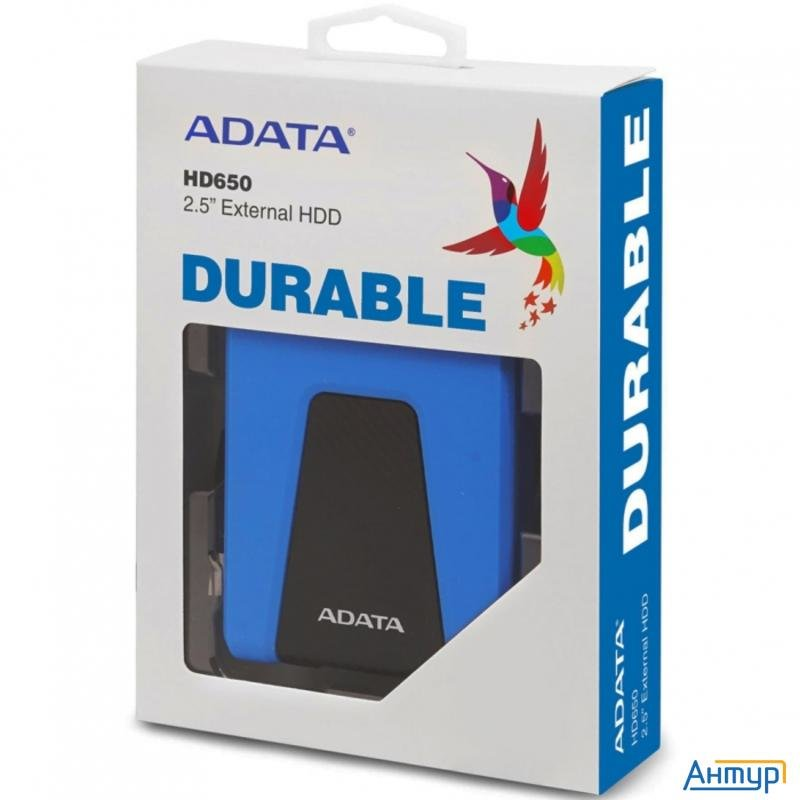 "Внешний жесткий диск 2.5"""" 1tb Adata Hd650 Ahd650 1tu31 Cbl Usb 3.1, Blue, Retail  20"