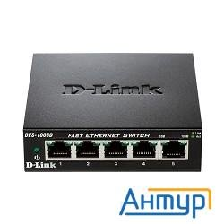 D-link Des-1005d/n2a/n3a 5-ports Utp 10/100mbps Auto-sensing, Stand-alone, Unmanaged, Metal Case
