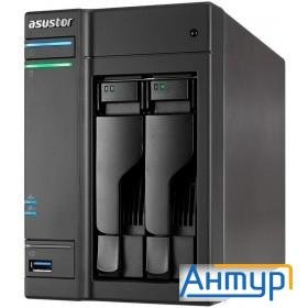 Asustor As6302t Сетевое хранилище 2-bay, Intel Celeron Dual-core, 2gb So-dimm Ddr3l, Gbe X 2, Usb 3.