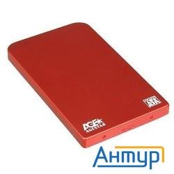 "Контейнер для Hdd Agestar Sub2o1 2,5"" Sata  (red) Usb2.0, алюминий, красный"