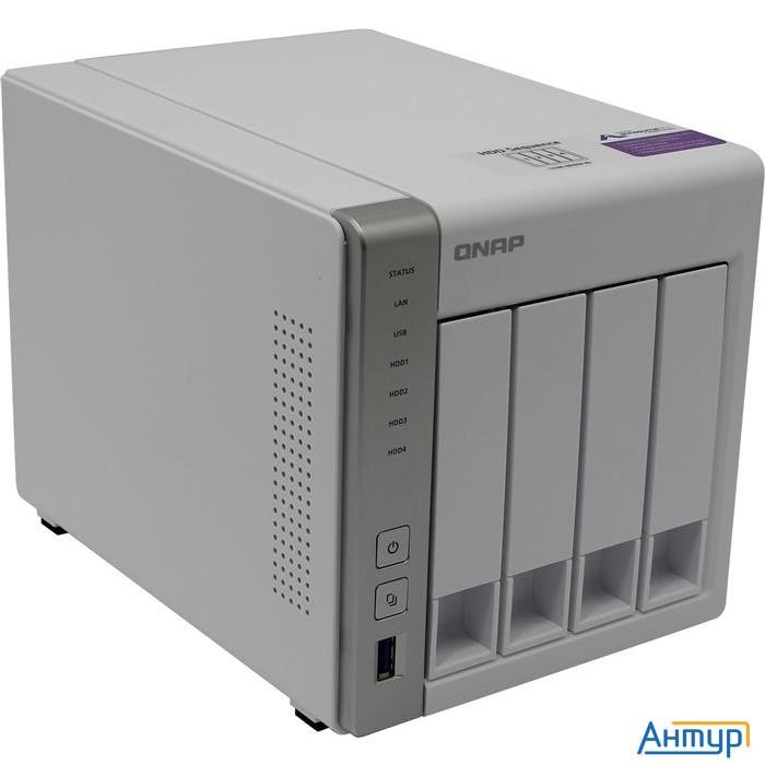 Qnap D4 Сетевое хранилище, 4 Hot-swap Tray W/o Hdd, Dualcore Cpu Al-212 1,7ghz, 1gb Ddr3, 2xgbe, 3xu