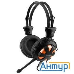 A4tech Hs-28 Orange/black {Гарнитура стерео} 1.8 м
