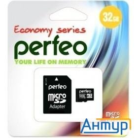 Micro Securedigital 32gb Perfeo Pf32gmcsh10aes {microsdhc Class 10, Sd Adapter}