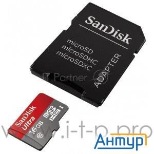 Micro Securedigital 16gb Sandisk Sdsquns-016g-gn3ma {microsdhc Class 10, Ultra+sd Adapter}