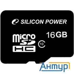 Micro Securedigital 16gb  Silicon Power Sdhc Class 10 (sp016gbsth010v10)
