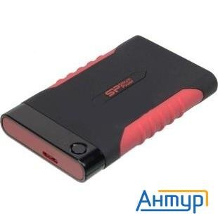 "Silicon Power Portable Hdd 2tb Armor A15 Sp020tbphda15s3l {usb3.0, 2.5"", Shockproof, Black-red}"